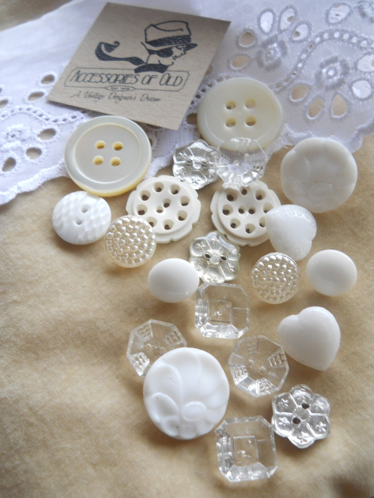 vintage buttons and eyelet lace at www.accessoriesofold.com