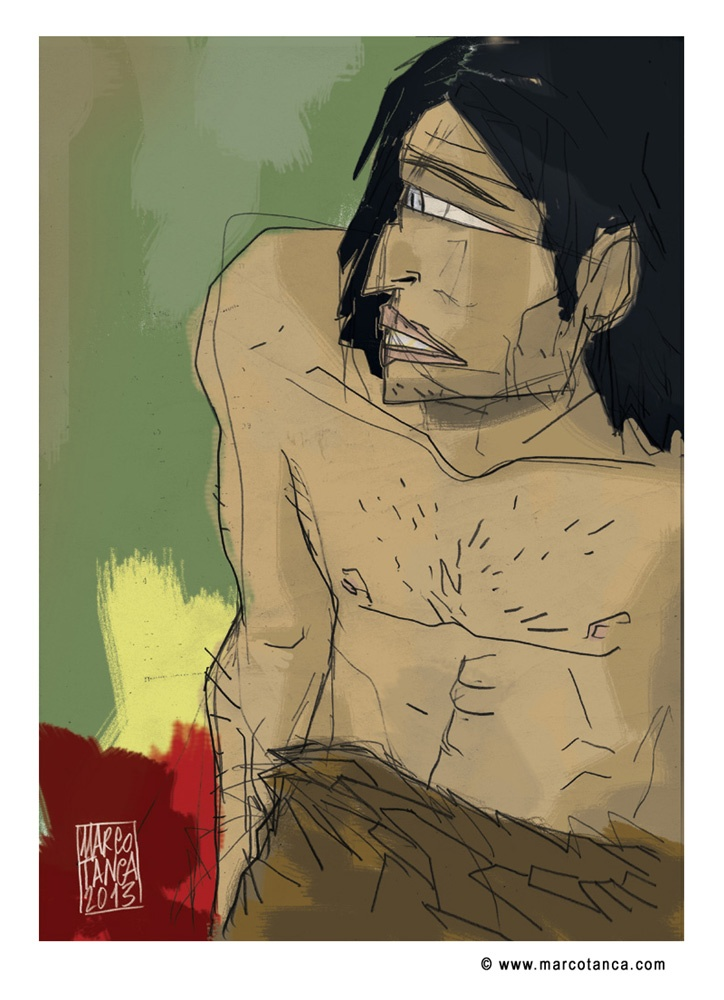 """Marco Tanca, """"The cyclops""""   Print signed and numbered, 29,7x42cm - Prize: $15.40"""