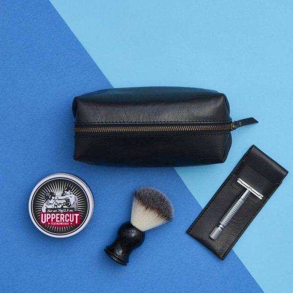 Leather Shaving Kit Bag and Razor Cover
