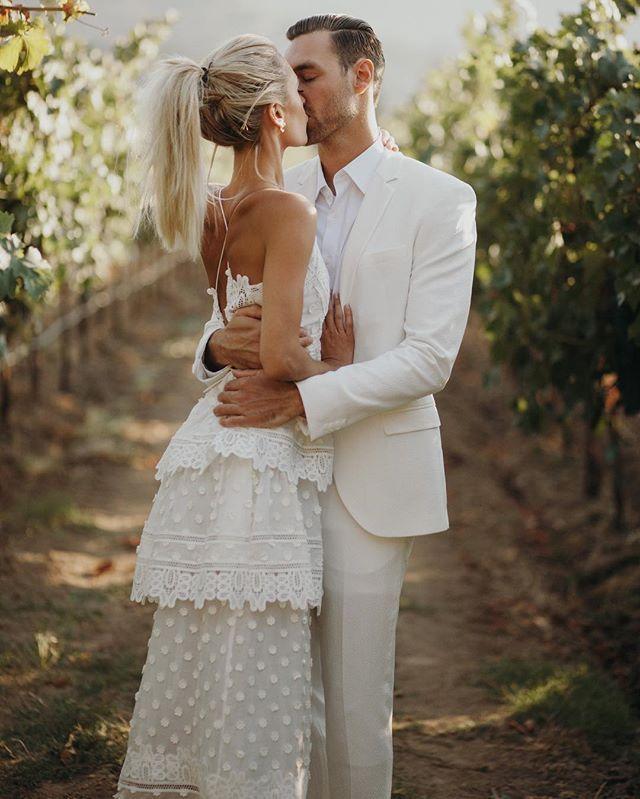 Beautiful vineyard wedding, all in white #love #wedding #vineyard #winery #bride #groom #stunning