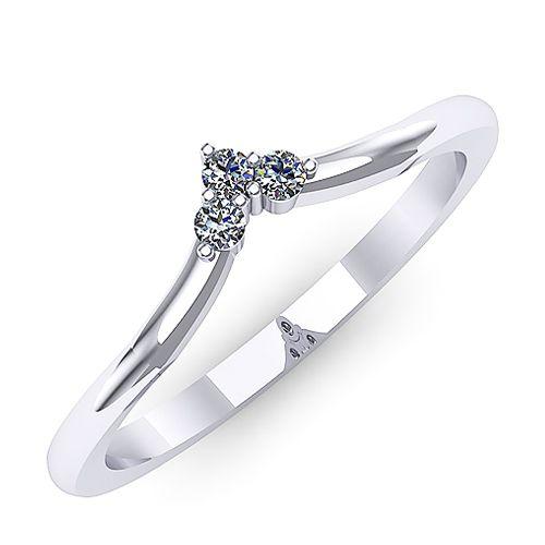 Inel logodna F33ADI * Piatra principala: diamante 3buc x ~1.60mm - greutate: ~0.06ct * Culoare: G, Claritate: SI1, Taietura: rotund briliant
