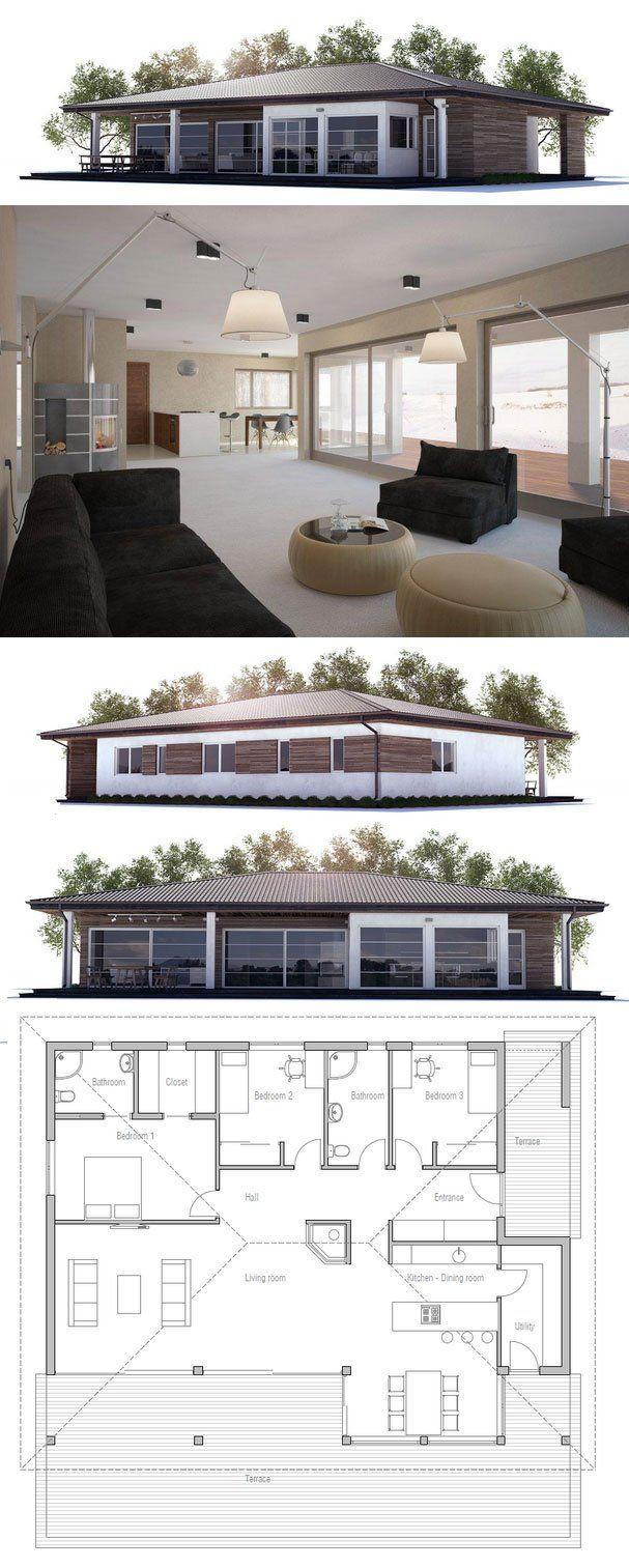 Modernes bungalow innenarchitektur wohnzimmer die besten  bilder zu haus ideen auf pinterest  kücheesszimmer