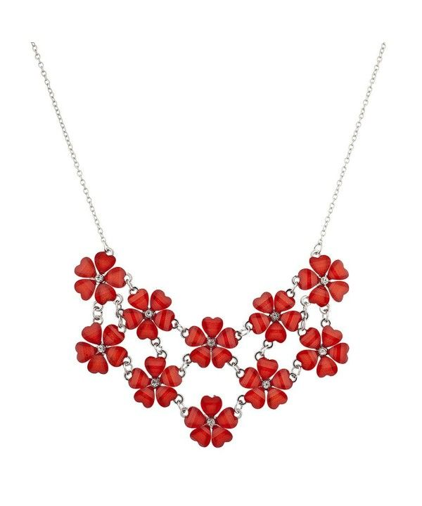 28ec9e3d6c3bf Multi Color Floral Flower Mini Special Occasion Statement Necklace ...