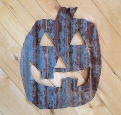 corrugated metal pumpkin - Google Search