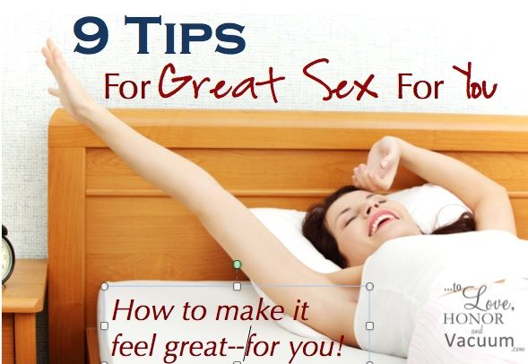 Great Sex for Her: Make your marriage rock with these tips on how to make sex feel great!