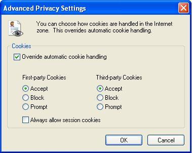 Расширенные настройки конфиденциальности