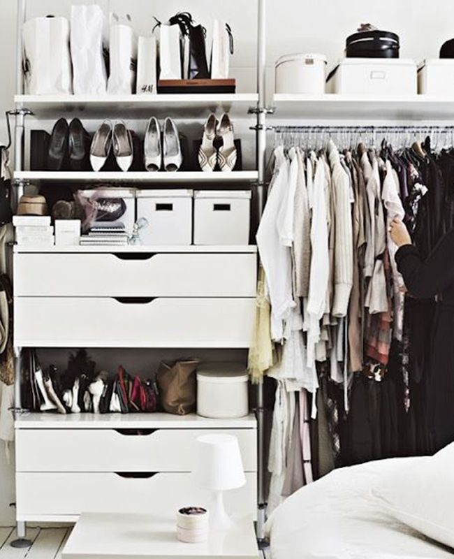 A little cute closet always looks good