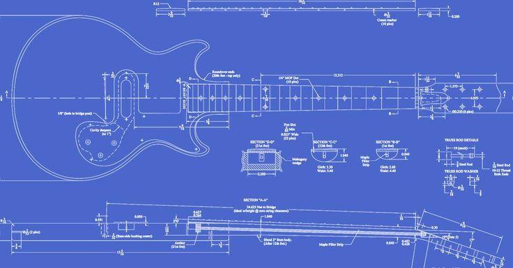Gibson Melody Maker Guitar Templates