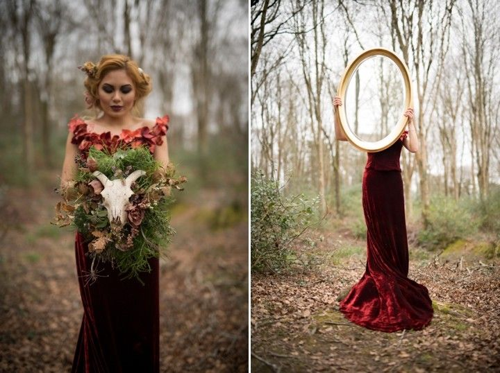 Dark Forest Wedding Inspiration from Enchanted Brides