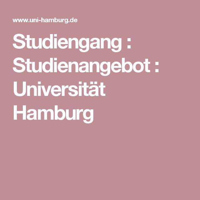 Studiengang : Studienangebot : Universität Hamburg
