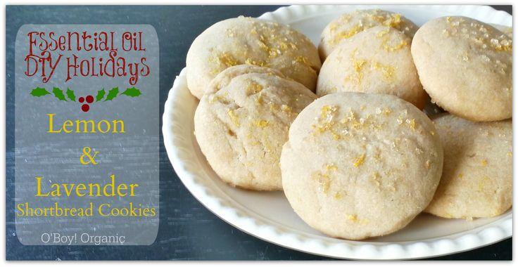 Lemon and Lavender Shortbread Cookies using essential oils.