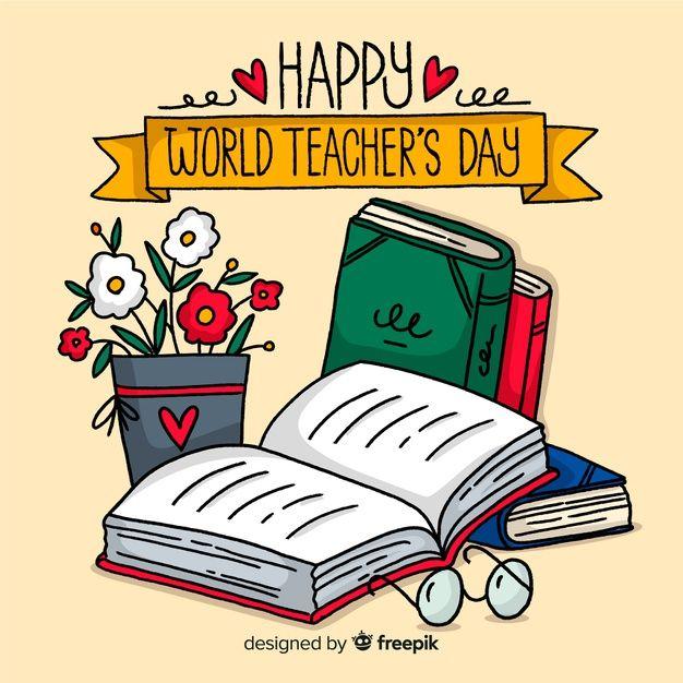 Download Hand Drawn Teachers Day Background For Free Teachers Day Drawing Teachers Day Card Teachers Day