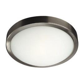 Plafonnier en métal chromé - diamètre 18 cm, Hauteur 8 cm, environ 24 euros