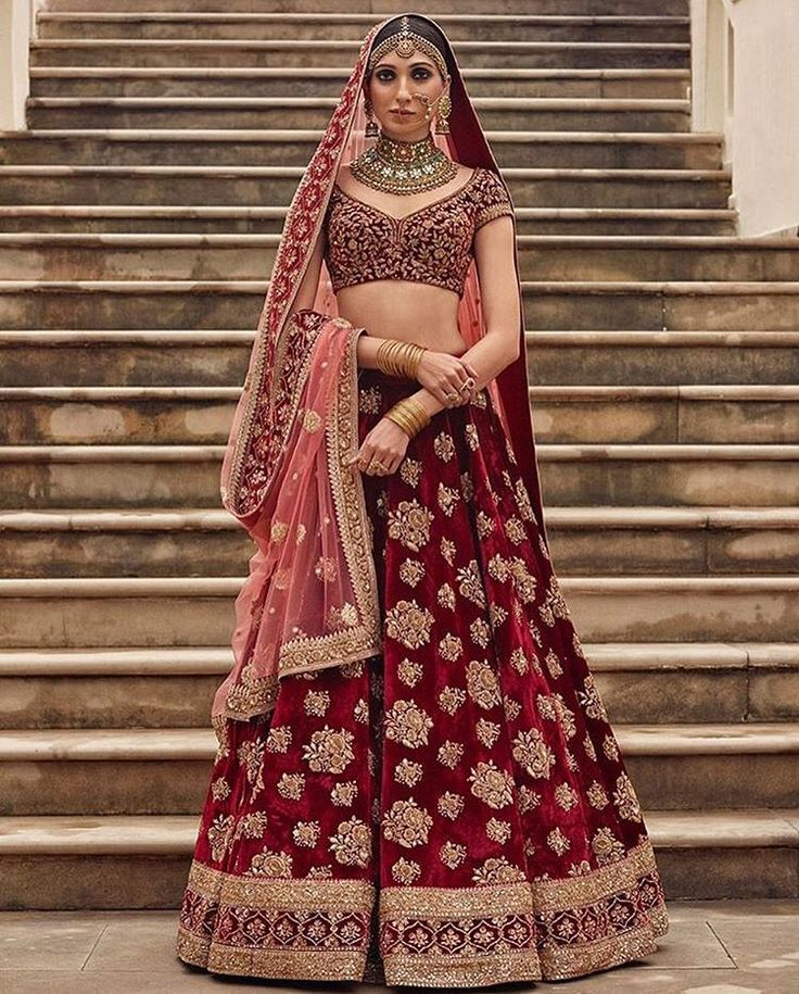 Gorgeous Designer Bridal Lehenga Choli by famous Indian Designer Sabyasachi Mukherjee  | Tikli - Fashion Trends, Sarees, Brands, Reviews, Designer collections, Bollywood and More