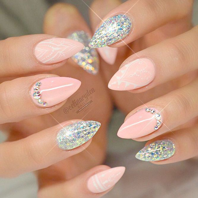 Fantastic Ideas For Your Pointy Nails Naildesignsjournal Pointy Nails Pointy Nail Designs Purple Nail Art