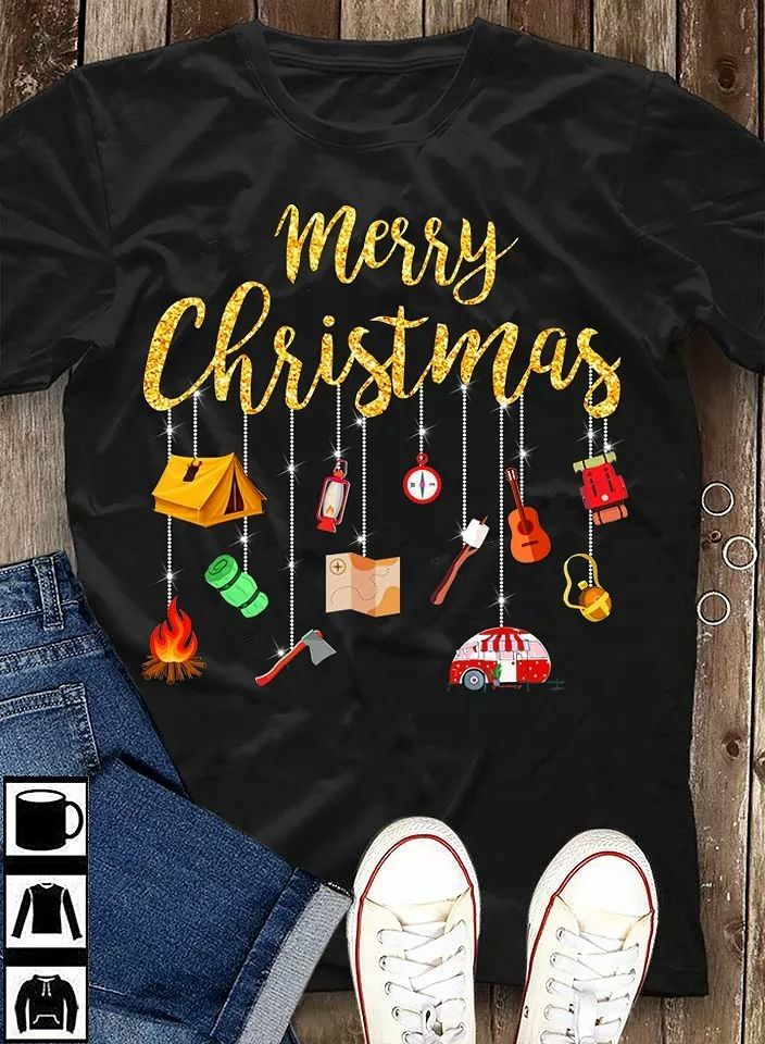 405910623f Christmas Camping T shirt | Clothes | Rv camping checklist, Rv ...