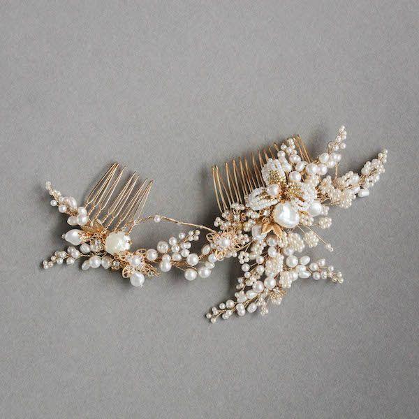 IRIS | Pearl Wedding Hair Comb