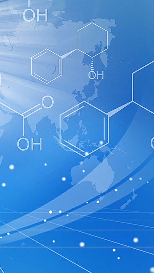 العلم والتكنولوجيا الصيغة الكيميائية خلفية H5 Science And Technology Background Chemical