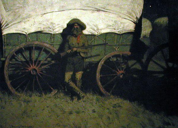 Image detail for -Remington, The Sentinel, 1907, Frederic Remington Art ...