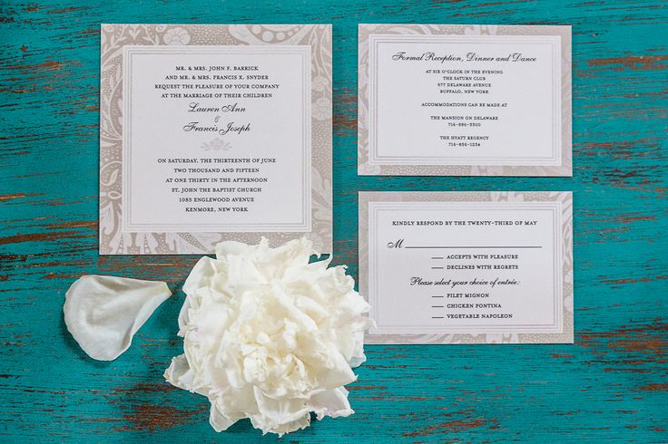 Gray and White Formal Invitation Suite