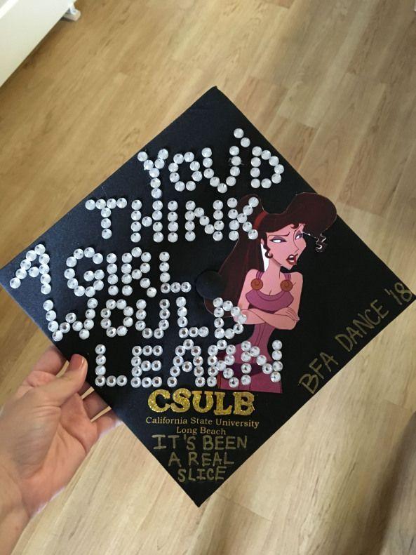 Megara From Hercules Csulb Graduation Cap Highschoolgraduation