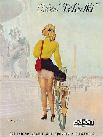 Cheeky French lingerie poster. 1946   http://www.vintagevenus.com.au/vintage/reprints/info/FAS580.htm