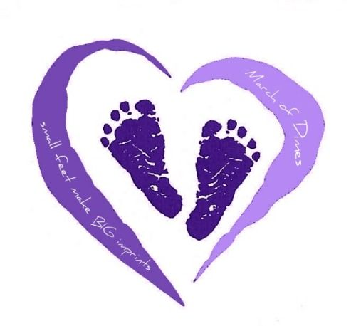 "March of Dimes ""Small feet make big imprints"""
