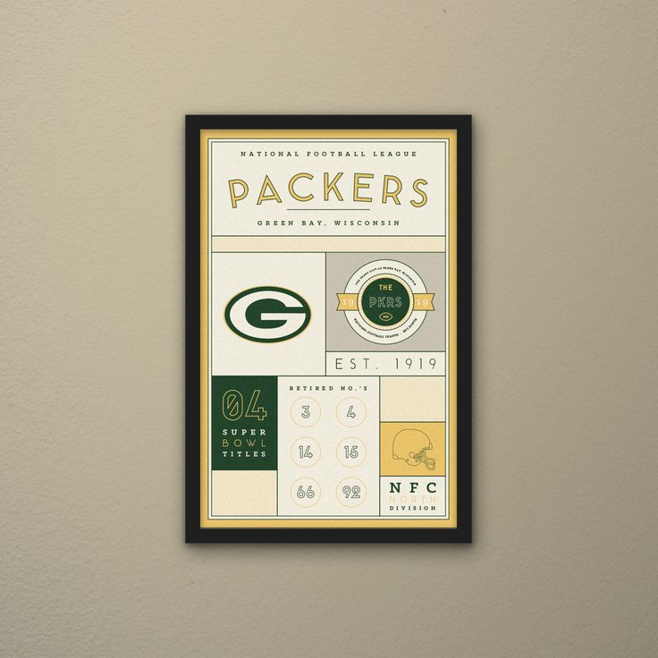 Green Bay Packers Stats Print by PortlySportsman on Etsy https://www.etsy.com/listing/167613931/green-bay-packers-stats-print