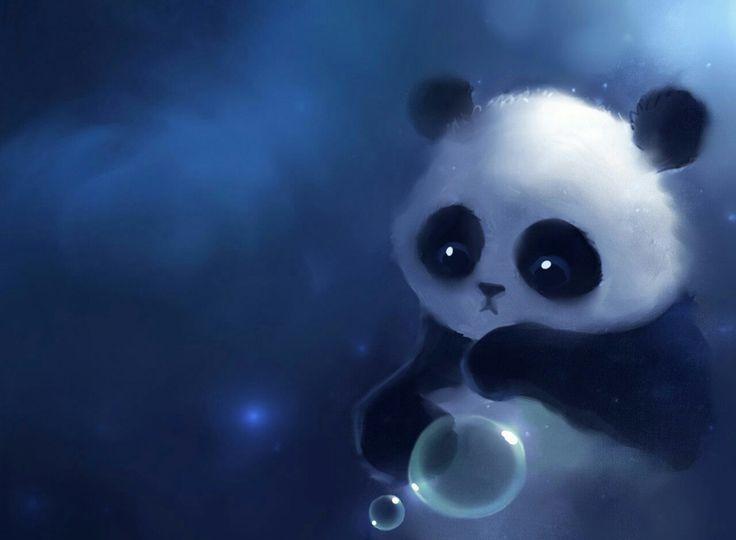 petit panda#bulle#cute
