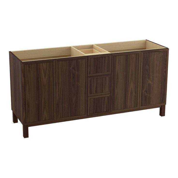 "Jacquard™ 72"" Vanity with Furniture Legs, 4 Doors and 3 Drawers, Split Top Drawer"