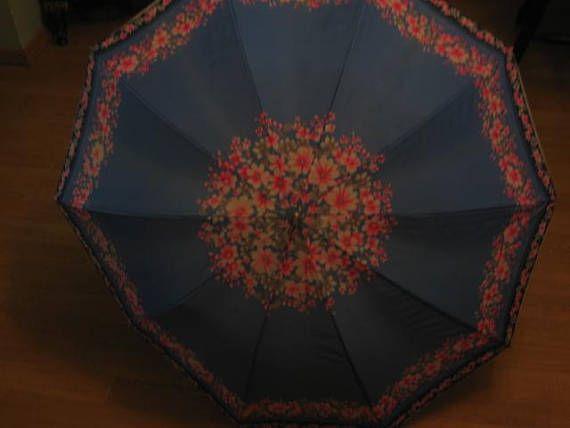 beautiful blue and pink  umbrella  parasol  sun or rain
