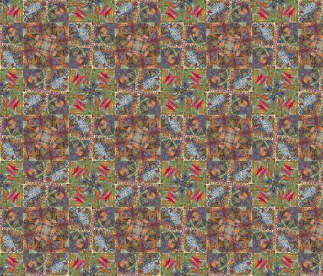 kaleidoscope squares fabric by fiberdesign on Spoonflower - custom fabric