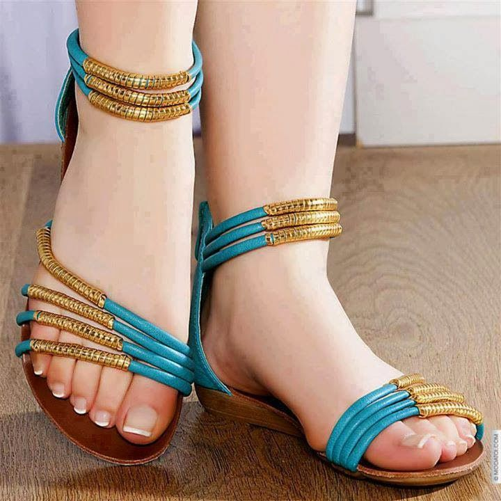 Latest And Stylish Flat Sandals For Young Girls From 2014 | Women Fashion