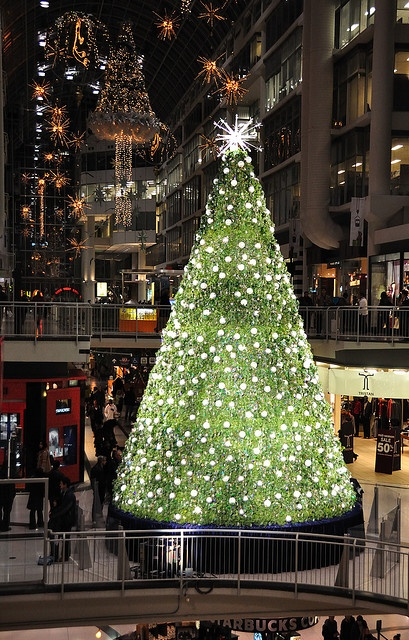 Eaton Centre Swarovski Christmas Tree in Toronto