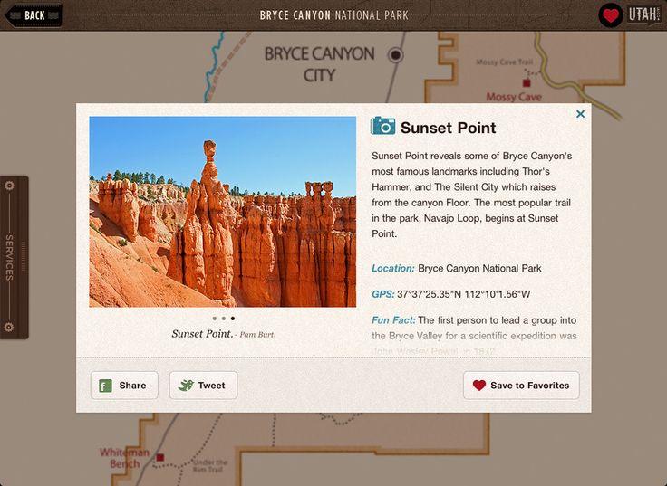 大峡谷国家公园iPad应用界面设计,来源自黄蜂网http://woofeng.cn/ipad/