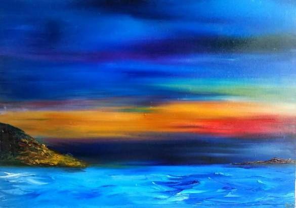 Magic Sea, 50 x 70 cm oil on canvas by Daria Zaseda