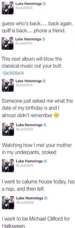 "luke hemmings everyone<< I'm just ganna show someone this when they ask ""who is Luke hemmings and why do u love him so much?"""