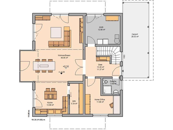 Kern-Haus Familienhaus Apos Grundriss Erdgeschoss
