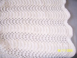 Feather and Fan Lace pattern Baby Blanket ...afghans, knit afghans, afghan patterns