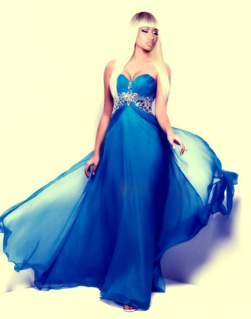 Nicki Minaj Quotes Beautiful Blue Dress Nickiminaj