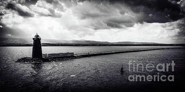 Poolbeg Lighthouse and Great Wall, Dublin in B&W. Visit my photo gallery and get a beautiful Fine Art Print, Canvas Print, Metal or Acrylic Print OR Home Decor products. 30 days money back guarantee on every purchase so don't hesitate to add some Irish Magic in your home or office.