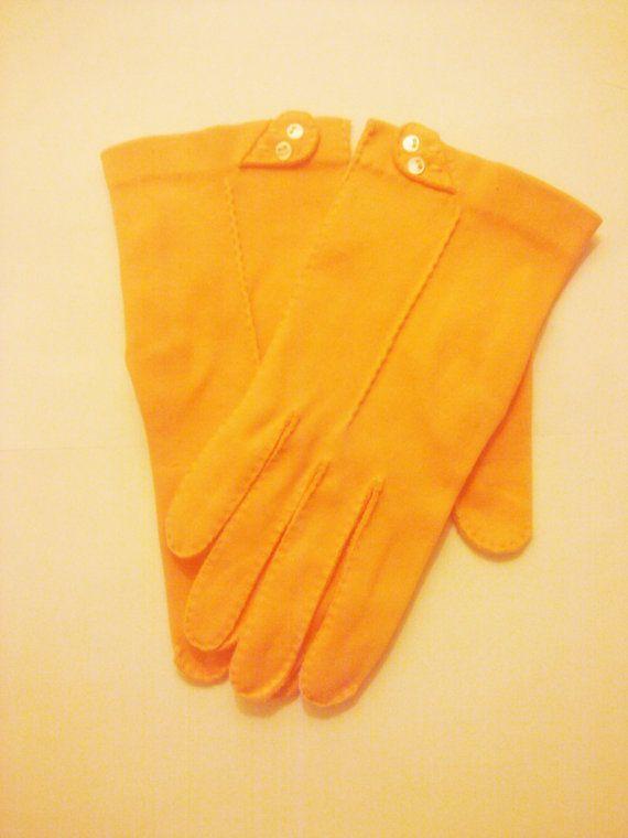 Vintage 1950s Orange Gloves/Rockabilly/VLV/ by PeachburritoVintage, $10.00