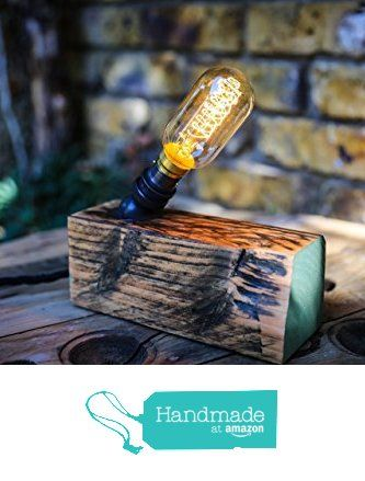 Table Lamp Handmade from Reclaimed Wood with Vintage Bulb from MooBoo Home https://www.amazon.co.uk/dp/B01LYYEWBQ/ref=hnd_sw_r_pi_dp_8ITmybNE0FJE0 #handmadeatamazon