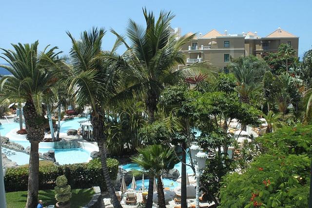 Warm pool at the Jardines de Nivaria Hotel in Tenerife.