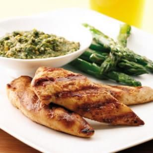 Grilled Chicken Tenders with Cilantro Pesto – Healthy Recipes with Chicken