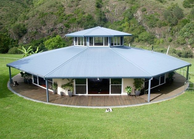 An octagonal, three-bedroom, family home built on a rotating platform near Wingham, north east of Sydney. The house can complete a full rotation in about thirty minutes according to its owners.