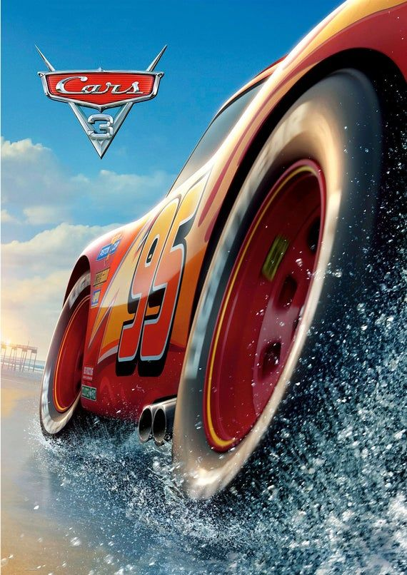 Cars 3 2017 Art Wall Poster Game Glossy Paper 200 Gsm Size A1 A2