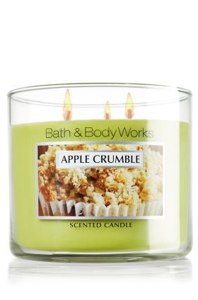 MY 2nd FAV CANDLE: Apple Crumble 3-Wick Candle - Bath & Body Works (online only this time of year)