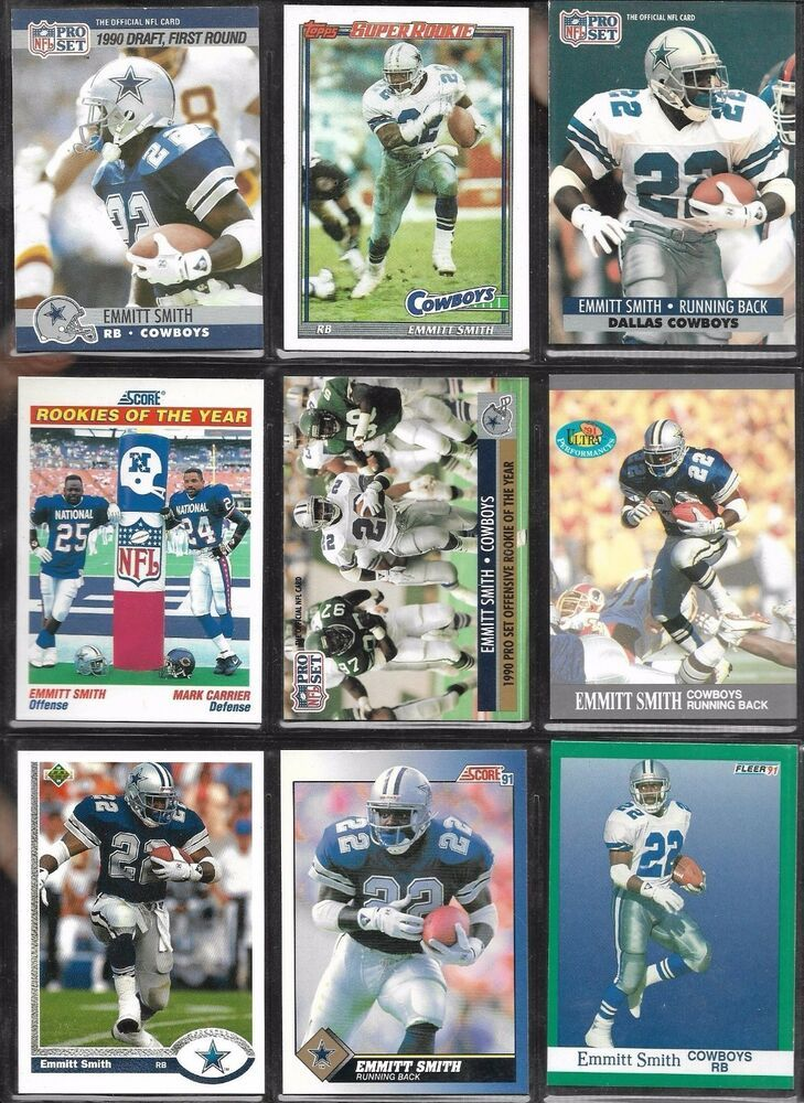 Dallas Cowboys Hof Emmitt Smith 1991 Score Nfl Pro Set