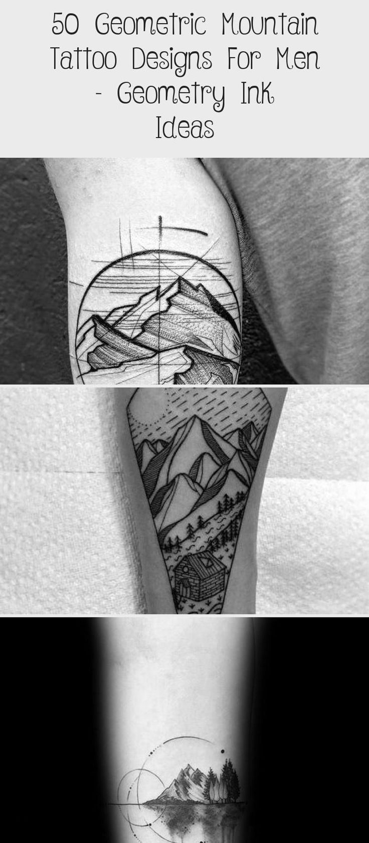 Gentleman With Geometric Mountain Tattoo